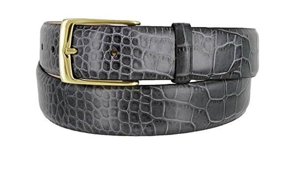 687a18fffa53 Avnet Ceinture Homme 35mm Cuir De Veau Souple Italien À Motif Peau  D Alligator  Amazon.fr  Vêtements et accessoires