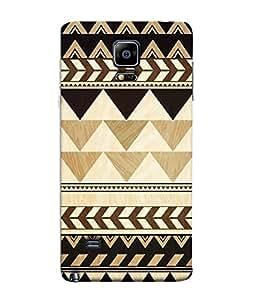 Nextgen Designer Mobile Skin for Samsung Galaxy Note Edge :: Samsung Galaxy Note Edge N915Fy N915A N915T N915K/N915L/N915S N915G N915D (Black triangle yellow Triangles Alternate Temple Design Alternate Triangles Small Triangles)