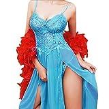 Dessous Lingerie Damen,Yanhoo Heiße Mode Unterwäsche Mode Frauen Look Sexy aus Clubwear Kleid Nachthemd Sexy Unterwäsche Nachthemd (L, Blau)