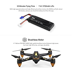 Studyset Quadcopters Multirotors Drones Hubsan X4 AIR H501A Pro 5.8G FPV 1080P HD Camera GPS RC Quadcopter Controlled by Cell Phone from Studyset