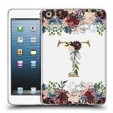 Head Case Designs Offizielle Nature Magick T Blumen Monogramm Blumig Gold 2 Soft Gel Hülle für iPad Mini 1 / Mini 2 / Mini 3