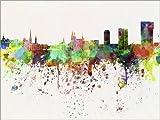 Poster 80 x 60 cm: Zürich-Skyline von Editors Choice -