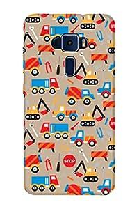ZAPCASE PRINTED BACK COVER FOR ASUS ZENFONE 3 ZE520KL Multicolor