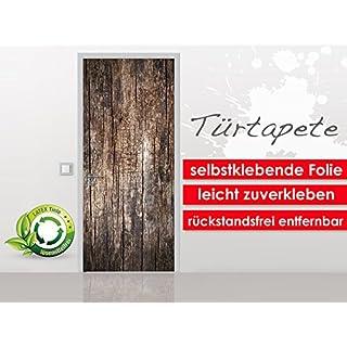 Türtapete Old Wood im Format 90x210cm - selbstklebende Premium Folie - leicht zu verkleben ohne Blasen von Trendwände