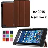 Fire 72015Schutzhülle housse-newstyle Klappetui mit Halterung Dünn und leicht für Tablet Amazon Fire 7Zoll 5. Generation 2015Release nur–Schwarz coffee