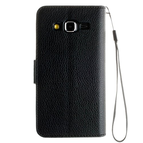 Für Samsung Galaxy J7 / J710 (2016) Litchi Textur Horizontale Flip Stand PU Leder Brieftasche Case Cover mit Halter & Card Slots & Wallet & Photo Frame & Lanyard by diebelleu ( Color : Brown ) Black