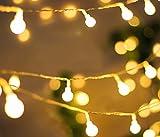 ISIYINER 5M Lanterne à boules de Étanche Guirlande Solaire 25 LED Extérieur String Light Déco lumineux Éclairage avec 2 Modes de Travail pour Décoration pour Intérieur Extérieur Jardin Maison Fête Noël Soirée Mariage Halloween , Maison, Fête, Soirée (