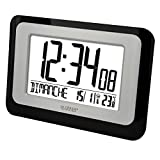 Best horloge La Crosse Technology - La Crosse Technology Horloge murale avec température WS8006BLA-SIL Review