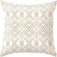 VORCOOL 2 unids Peach piel patrón Geomatric funda de almohada funda de almohada funda de almohada decorativa 45 x 45 cm