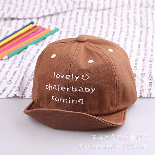 mlpnko Die Hüte der neuen Kinder Schlagen Art- und Weisebaby-Hutmänner 1-5 Sonnenhutvisierbraun 1-4 Jahre alte Hut 46-51cm leicht