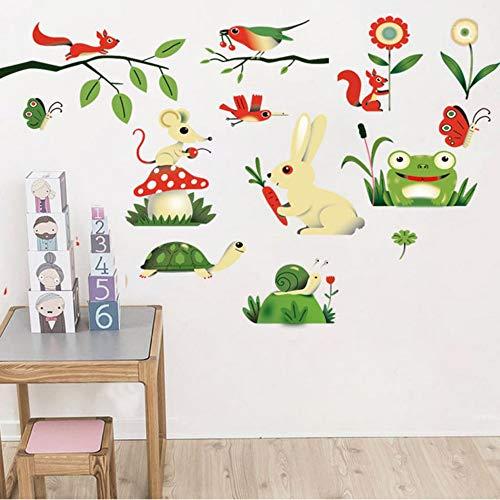 toon - Frosch - Insekt Tiere auf dem Bauernhof Diy Nursery Baby - Kind - Raum - Wohnkultur -bdpq ()