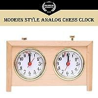 BETTERLINE-Professionelle-Analoge-Holz-Schachuhr-Zeitmesser–Zum-Aufziehen-keine-Batterien-ntig
