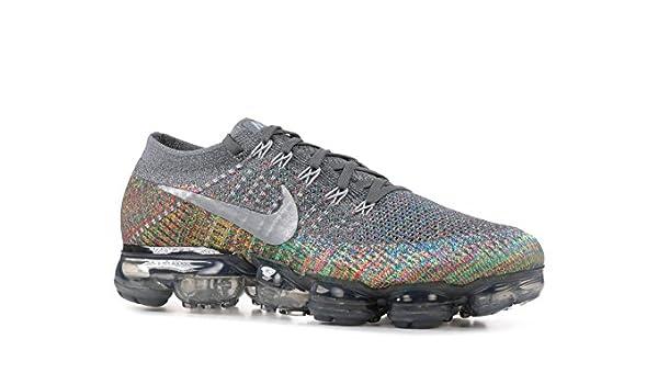 3d5fc49146ed Nike Men s Air VaporMax Flyknit Running Shoes (Dark Grey Reflect Silver