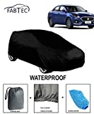 #5: Fabtec Waterproof Car Body Cover for Maruti Swift Dzire New 2018 with Microfiber Glove & Storage Bag Combo! and Full Bottom Elastic & Big Belt Buckle Lock