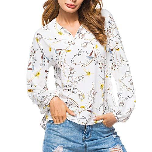 TianWlio Langarmshirt Damen Frauen V-Ausschnitt Langarm T-Shirt Tops Bluse Damen Langarmshirt Longsleeve