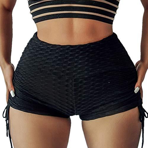 Yoga Shorts Damen Sexy UFODB Frau Fitnesshosen Bandage Yogahose Trainingshose Hip Strandhosen Sommerhosen Boardshorts Sweatshorts Jogginghose Kurz Sportshorts Bikinihose (Shorts Frau)