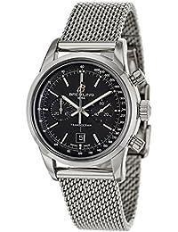 Damas-reloj Breitling Transocean cronógrafo automático acero inoxidable A4131012/BC06/171 A