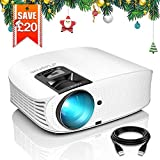Projector, ELEPHAS 3600 Lumens HD Video Projector 200'' Home Cinema LCD Movie Projector