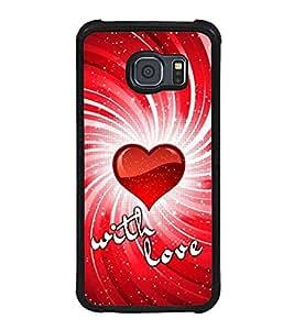 PrintVisa Designer Back Case Cover for Samsung Galaxy S6 Edge+ :: Samsung Galaxy S6 Edge Plus :: Samsung Galaxy S6 Edge+ G928G :: Samsung Galaxy S6 Edge+ G928F G928T G928A G928I (pyar prema heart kiss love ishq dil )