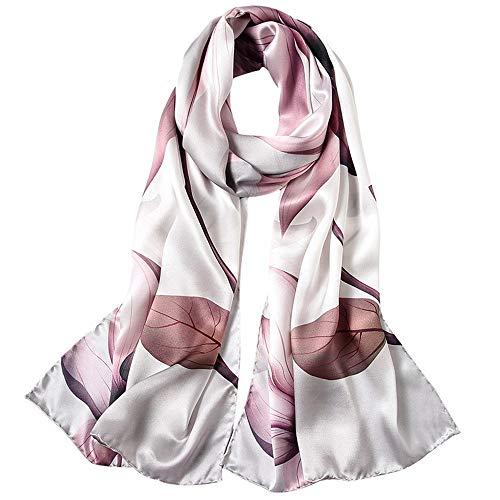 Cotangle Frauen Schal Schals Frauen 175 cm * 52 cm Seide Weiche Mode Print Schals Floral Halstuch Schal Wrap Sarong Anti-allergie Nackenschutz (Farbe : 1, Größe : 175cm*52cm) -