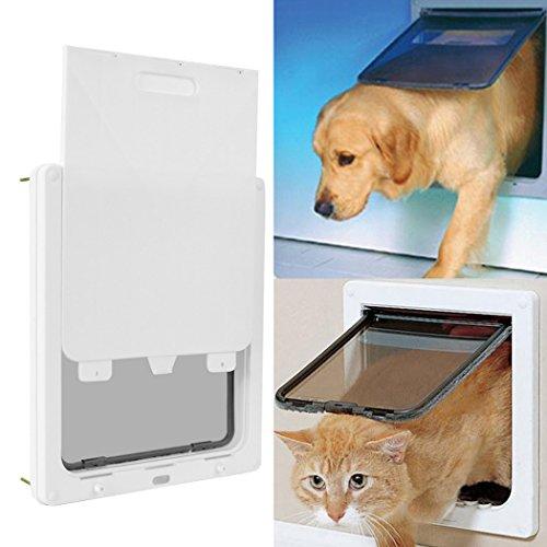 Diaped Haustiertüre Hundeklappe katzenklappe Hundetür große mit Veriegelungsplatte Doppel-Eintritt Haustierklappe 44*36cm