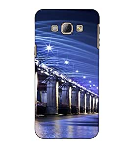 Fuson Designer Back Case Cover for Samsung Galaxy A8 (2015) :: Samsung Galaxy A8 Duos (2015) :: Samsung Galaxy A8 A800F A800Y (Bridge on the sea)