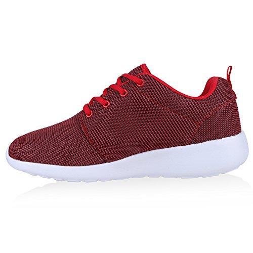 Modische Herren Sportschuhe | Freizeit Sneaker Snake | Laufschuhe Runners Trainers | Sneakers Schuhe Rot Weiss