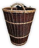 Alpenfell Tragekiepe Oval aus Weide, KIEPE Rückenkiepe Tragekiepe Weidenkorb Holzkorb Erntekorb, Handarbeit, sehr stabil - 3 Verschiedene Größen (Mittel)