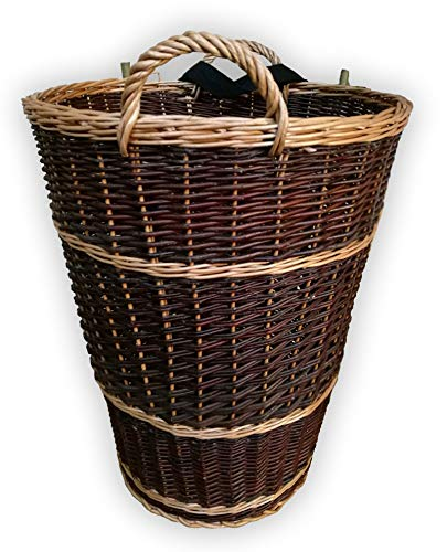 Alpenfell Tragekiepe Oval aus Weide, KIEPE Rückenkiepe Tragekiepe Weidenkorb Holzkorb Erntekorb, Handarbeit, sehr stabil - 3 Verschiedene Größen (Groß)
