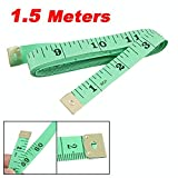 "Tailor's Tape Measure - 150 cm / 60"" - Double-sided with cm and inches (Green)"