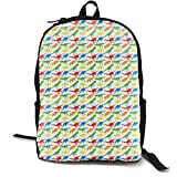 Distressed Dinos On Fog Monochrome Adult Premium Travel Backpack, Water-Resistant College School Bookbag, Sport Daypack, Outdoor Rucksack, Laptop Bag for Men&Women