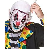 Maschera da clown terrificante con cranio