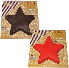 Backform Kuchenform STERN Silikon braun rot Napfkuchen Backen Küche Weihnachten