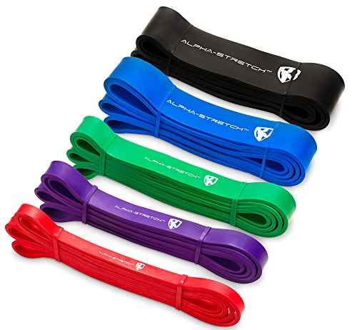 Crossfit & Calisthenics Resistance Band + Trainings-Guide Klimmzugband Pull up Dip & Flag Fitnessband Widerstands Band