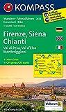 Firenze - Siena - Chianti - Val di Pesa - Val d'Elsa - Monteriggioni: Wanderkarte mit Aktiv Guide und Radrouten. GPS-genau. 1:50000 (KOMPASS-Wanderkarten, Band 2458)