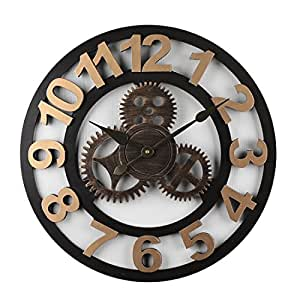 Tosbess Horloge Pendule Murale en Style Vintage -Silencieuse Creux ... 38b8852512d5