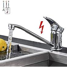 SUGU Niederdruck Küchenarmatur Spültischarmatur Küche Armatur Wasserhahn  360° Schwenkbar Mischbatterie Einhebelmischer Niederdruckarmatur ...