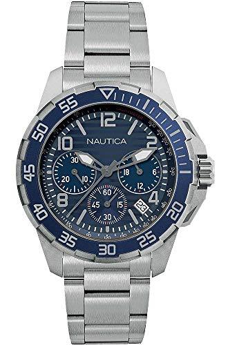 Nautica Orologio Cronografo Quarzo Uomo con Cinturino in Acciaio Inox NAPPLH009