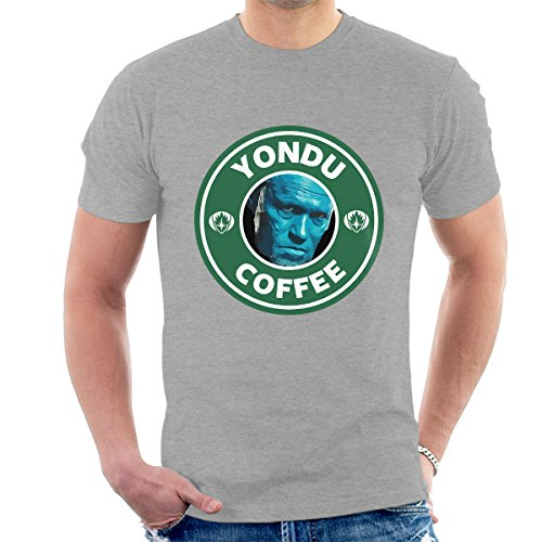 Guardians Of The Galaxy Yondu Coffee Starbucks Men's T-Shirt Heather Grey