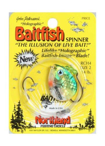Northland Tackle Köderfische Spinner Geschirr Rig, gelb Perch, 2-4Haken -