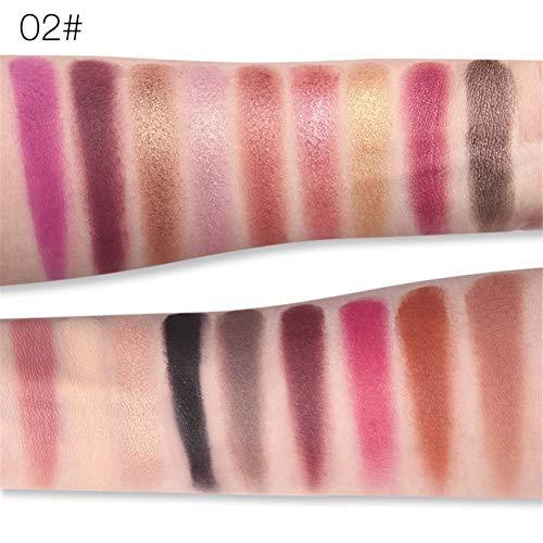 Cocohot 18 Farben Lidschatten-Palette Schimmer Matt Chrom Pigmentiert Gedrückt Lidschatten Natürliche Langlebige (B)
