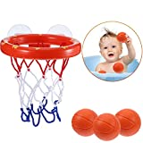 ZHENDUO Fun Bath Basketball Hoop & Balls Playset for Little Baby Bath Toys Creative Bathtub Shooting Game for Kids Suctions Cups That Stick to Any Flat Surface Child Baby Gift