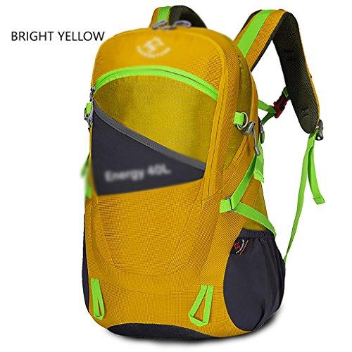 sac à dos randonnée escalade extérieur sac sac à bandoulière hommes et femmes sac à dos en plein air sac de randonnée 30l40l Sacs à dos de randonnée ( Couleur : Le jaune , taille : 40L )