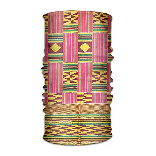 Pengyong Afrikanisches buntes Muster, Unisex, modisch, schnelltrocknend, Mikrofaser, Kopfschmuck, für den Außenbereich, Magischer Schal, Halstuch mit Kapuze und super weichem Griff - Adidas Sportliche Wrap