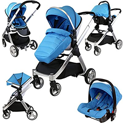 iSafe Marvel 2in1 Travel System (with Car Seat) (Ocean Pearl)