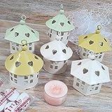 Sindy Bomboniere belles casettine en métal avec toit conique Assortis Avec Boîte et bougie yankee candle Kit Per Il Confezionamento