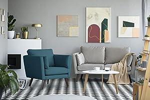 Mazzini Sofas Fauteuil, Tissu, Turquoise, 94 x 88 x 91 cm