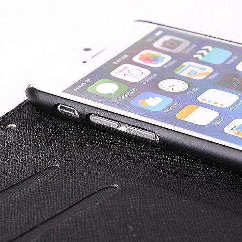 """inShang Hülle für Apple iphone 6 Plus 5.5 inch iPhone 6+ iPhone6 5.5"""", Cover Mit Modisch Klickschnalle + Errichten-in der Tasche + ZEBRA STRIPE SHIP DECORATION, Edles PU Leder Tasche Skins Etui Schutz stripe navy blue"""
