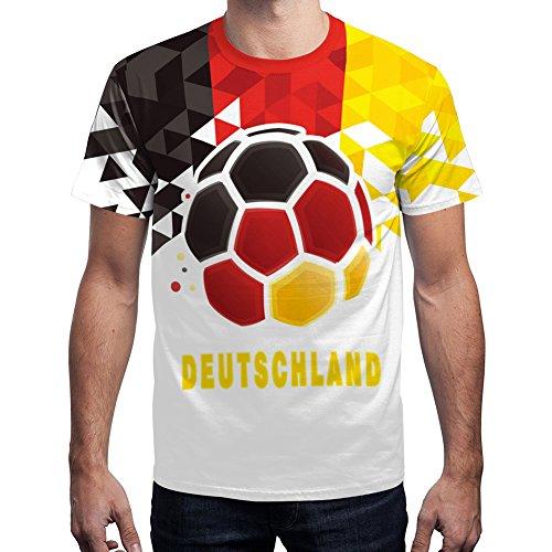 For G and PL WM 2018 2018 Herren Deutschland Fußball Team T-Shirt Sport Außen Party Championship Trikot Germany Motiv 1 L