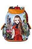 #9: Leather Retail Girls Stylish College Backpack Handbag -Digital Printed
